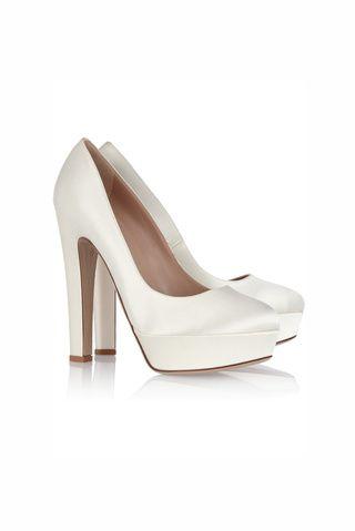zapatos de novia satinados