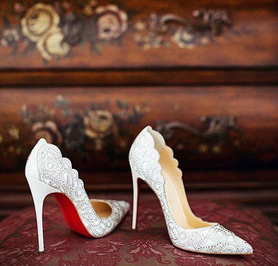 zapatos de novia troquelados