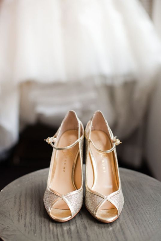 zapatos de novia dorados | dressbori