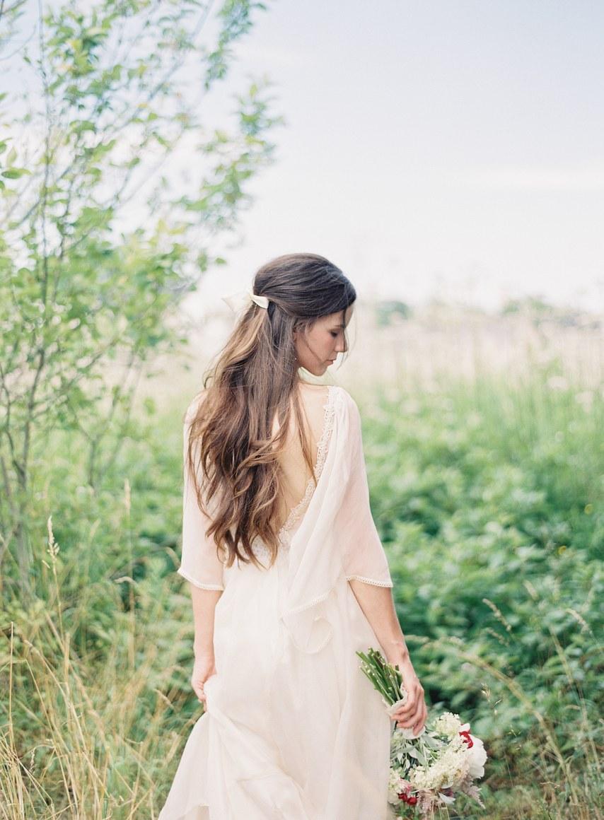 melena suelta-peinados de novia