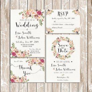 invitaciones y tarjetas de boda personalizadas