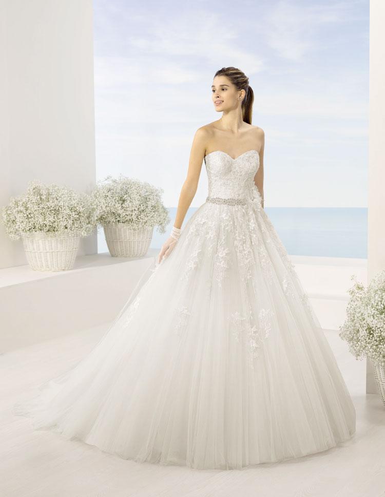Vestidos de novia Almanovia.Línea Princesa-Dress Bori-mod timbal