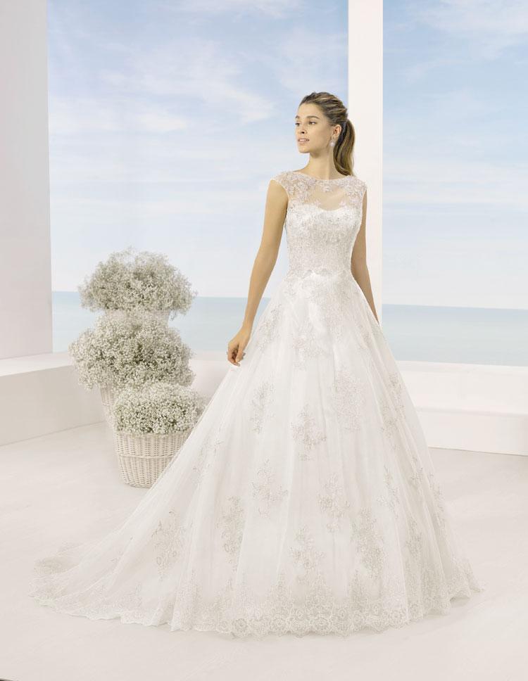 Vestidos de novia Almanovia.Línea Princesa-Dress Bori-mod tucan