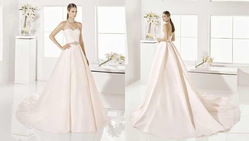 ¡Vestidos de novia en color rosa!