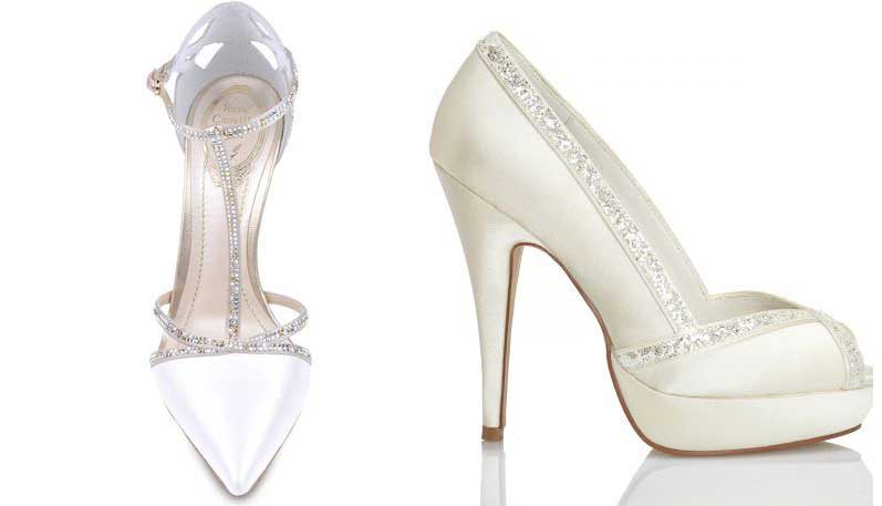 Zapatos de novia con pedrería