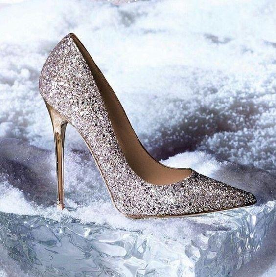 zapatos de novia con brillo
