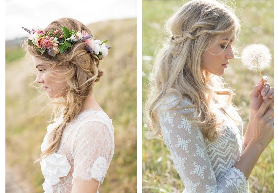 Tendencias en peinados de boda. Semirrecogidos de novia