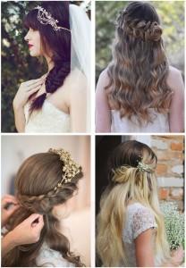 Peinados-de-novia-Semirrecogidos