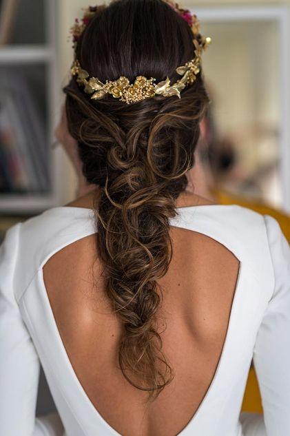 Peinados de novia-Semirrecogidos