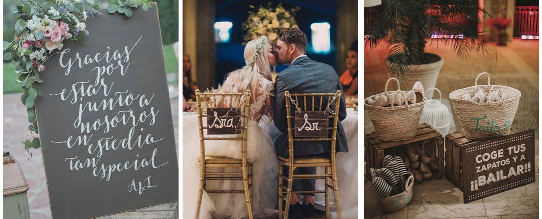 Detalles para personalizar tu boda